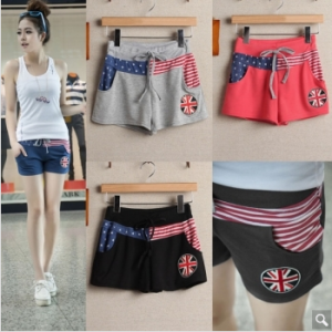 New Girls Women Fashion Korean Style Patchwork Casual Shorts