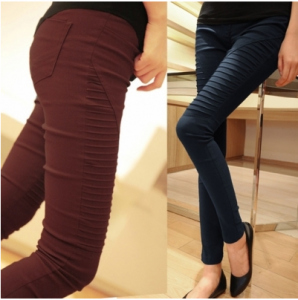 Fashion Women Elastic Stretch Solid Slim Skinny Leggings Casual Pencil Pants Trousers